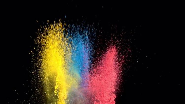 Colored Powder: Stock Video