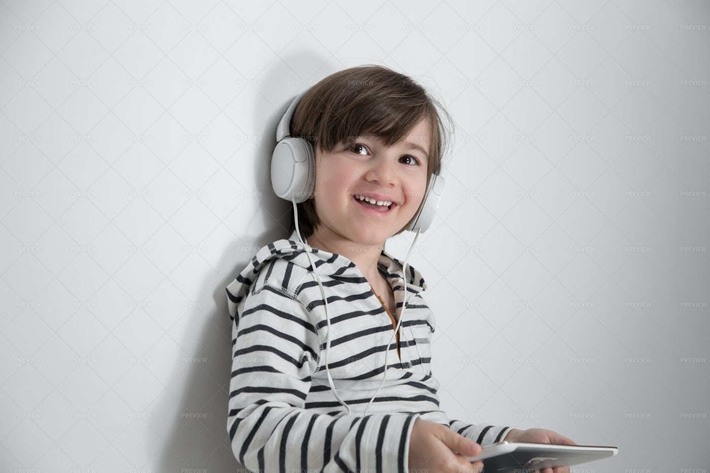 Child With Headphones: Stock Photos