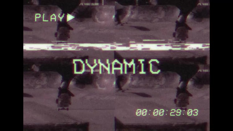 VHS Style Slideshow Opener: Premiere Pro Templates