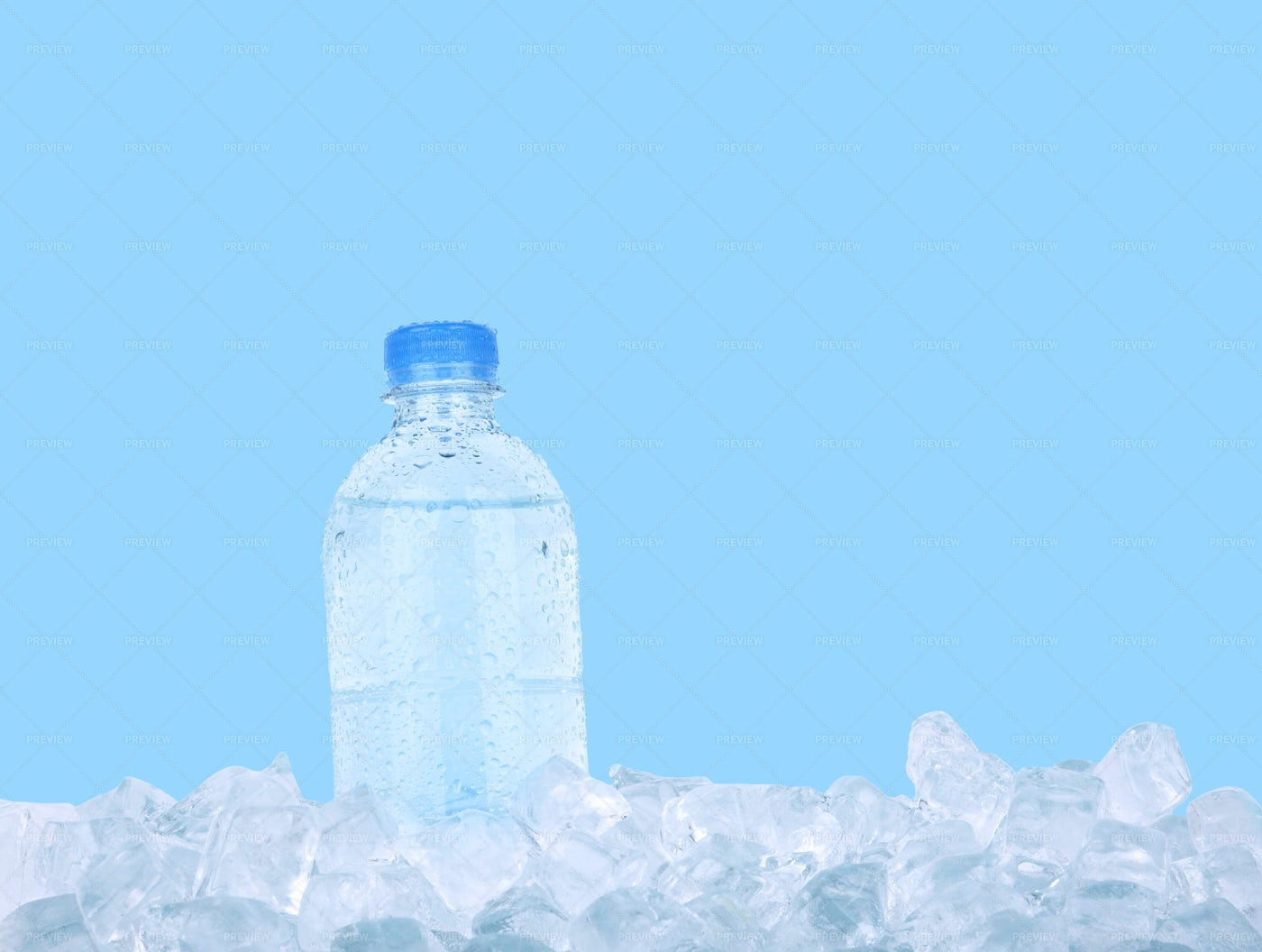 Ice Cold Water Bottle - Stock Photos | Motion Array