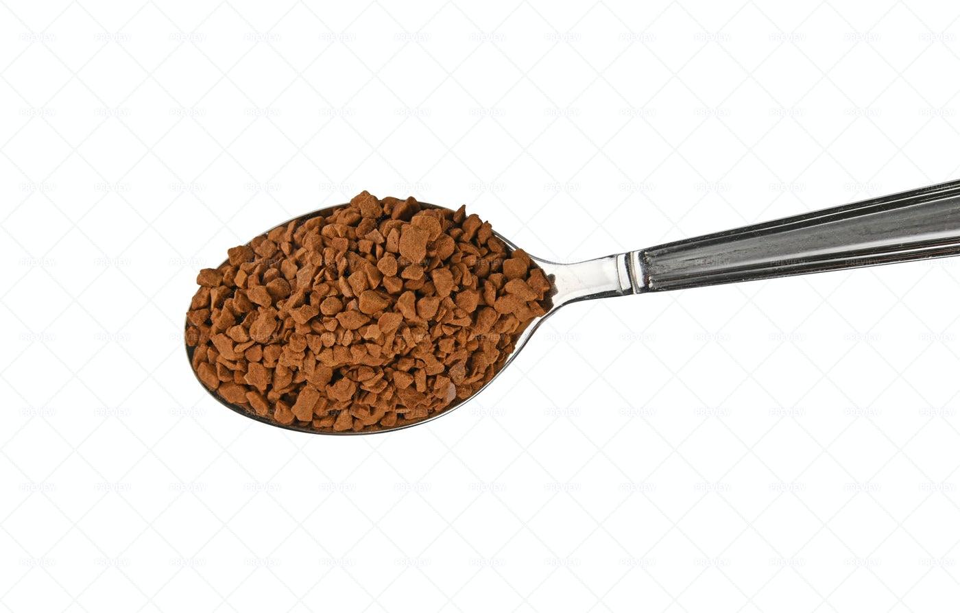 Spoon Of Instant Coffee: Stock Photos