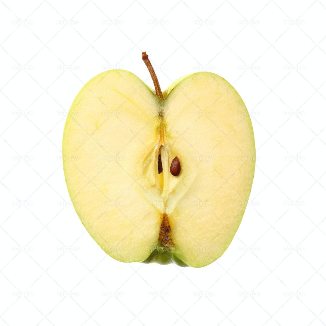 Sliced Green Apple: Stock Photos