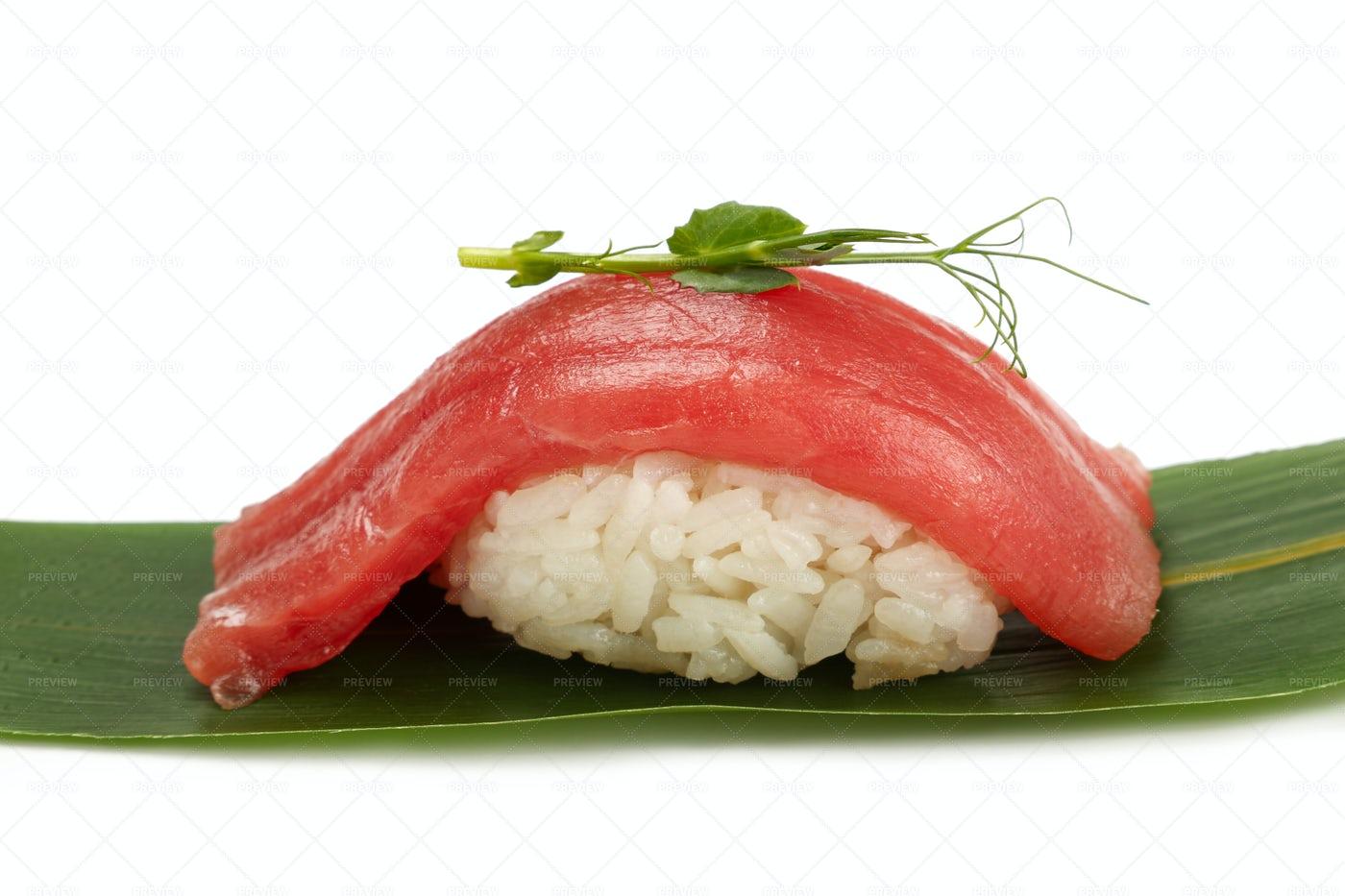 Sushi On Banana Leaf: Stock Photos