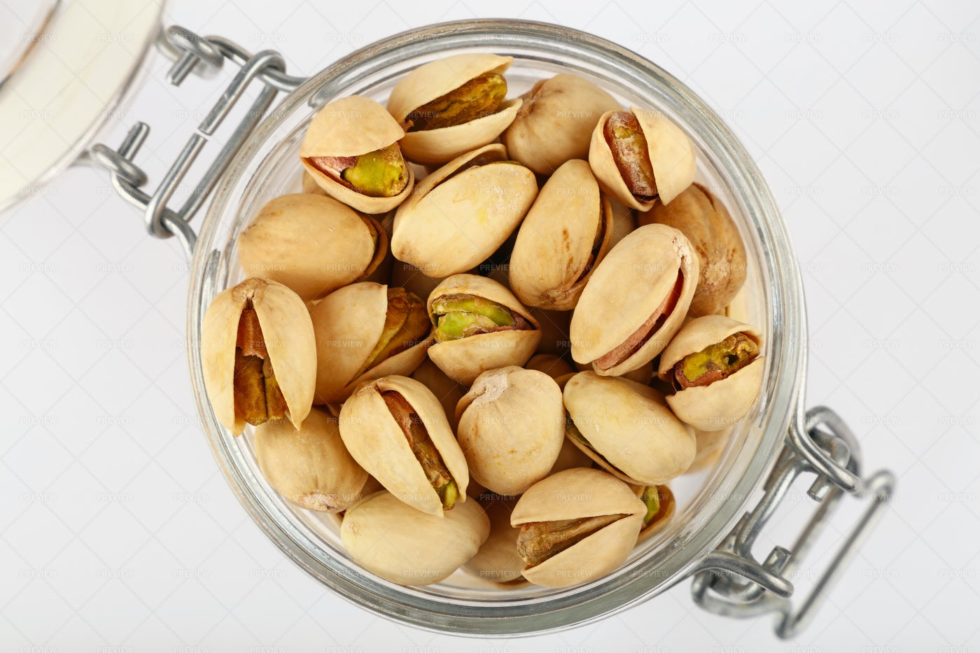 Pistachio Nuts In Jar: Stock Photos