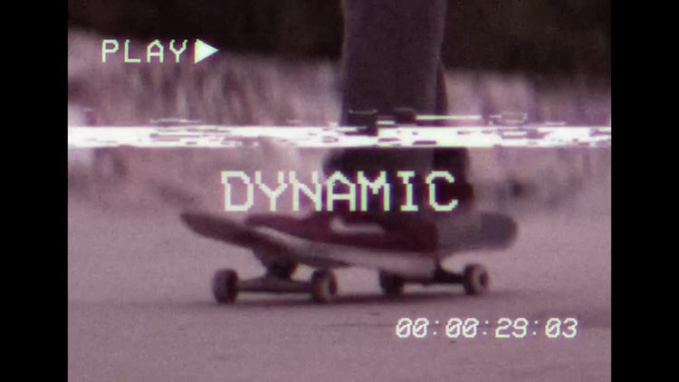 VHS Style Slideshow Opener: After Effects Templates