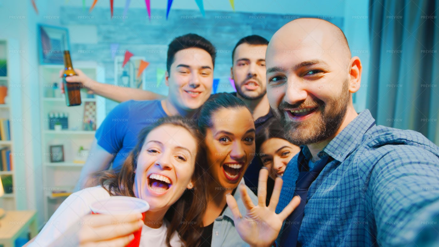 House Party Selfie: Stock Photos
