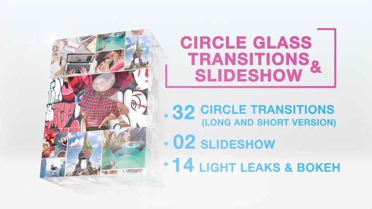 32 Circle Glass Transitions & Slideshow: Premiere Pro Templates