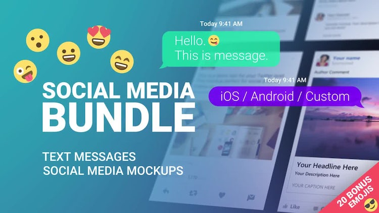 Text Messages And Mockups: After Effects Templates