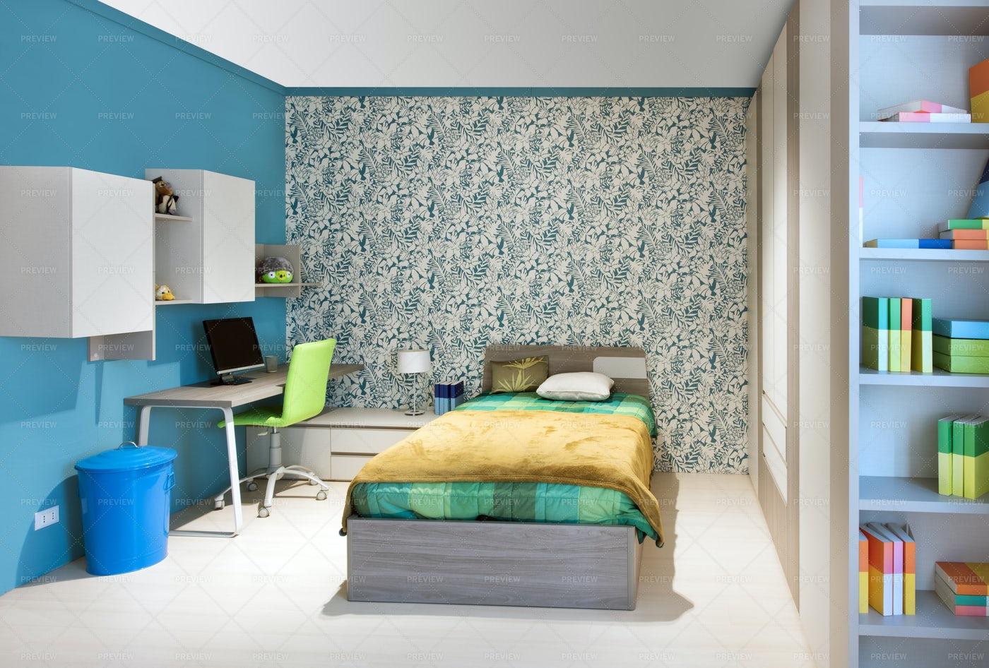 Teenagers Bedroom: Stock Photos