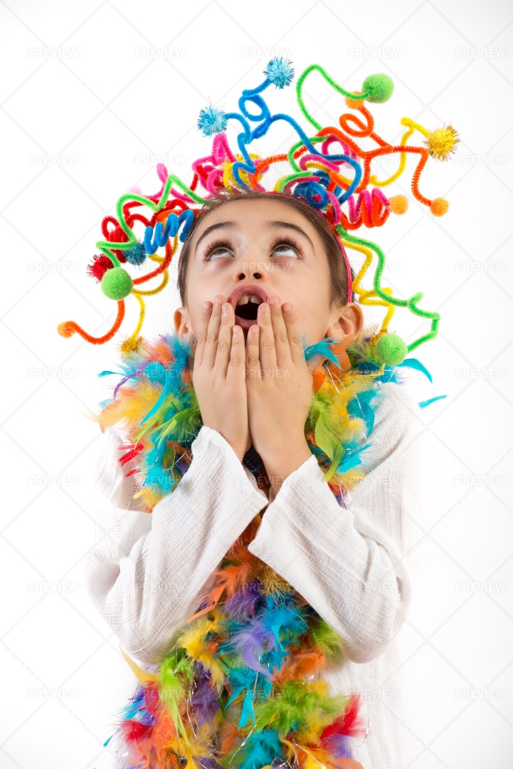 Girl In Party Costume: Stock Photos