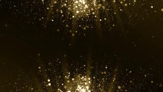 Particles Gold Background: Stock Motion Graphics
