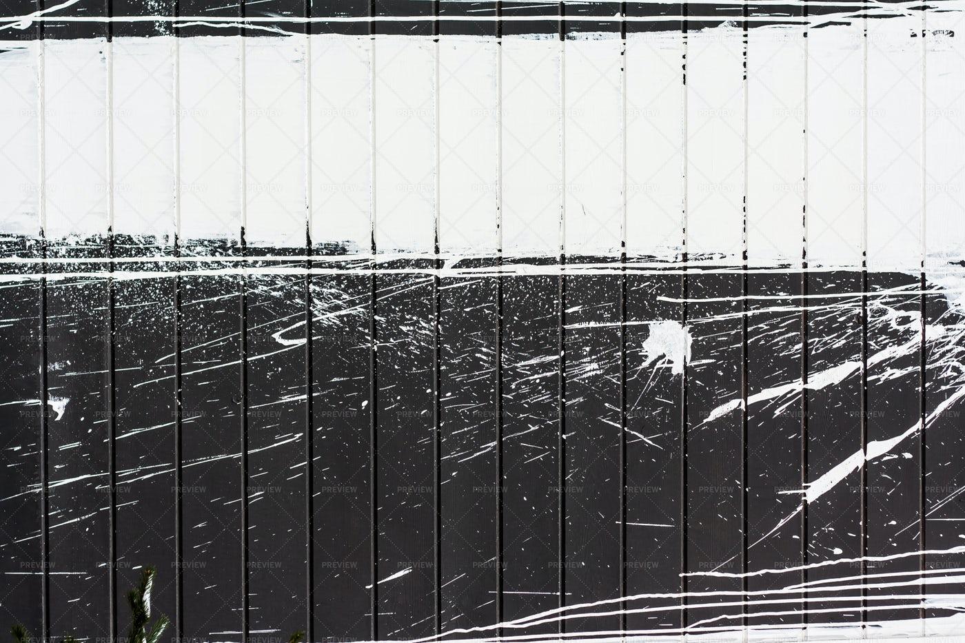 Splashed Paint On Black Wall: Stock Photos