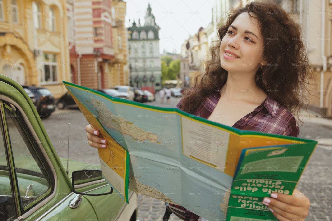 Woman Seeing The Sights: Stock Photos