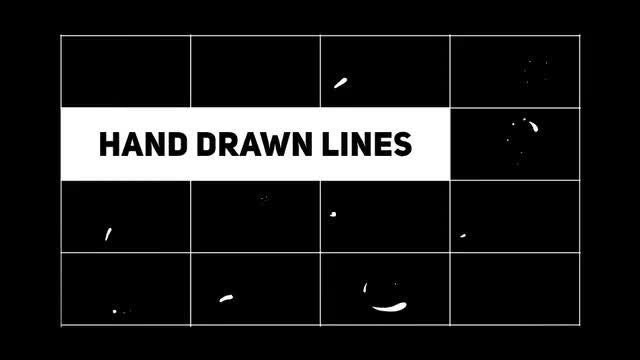 Hand Drawn Shape Lines: Stock Motion Graphics