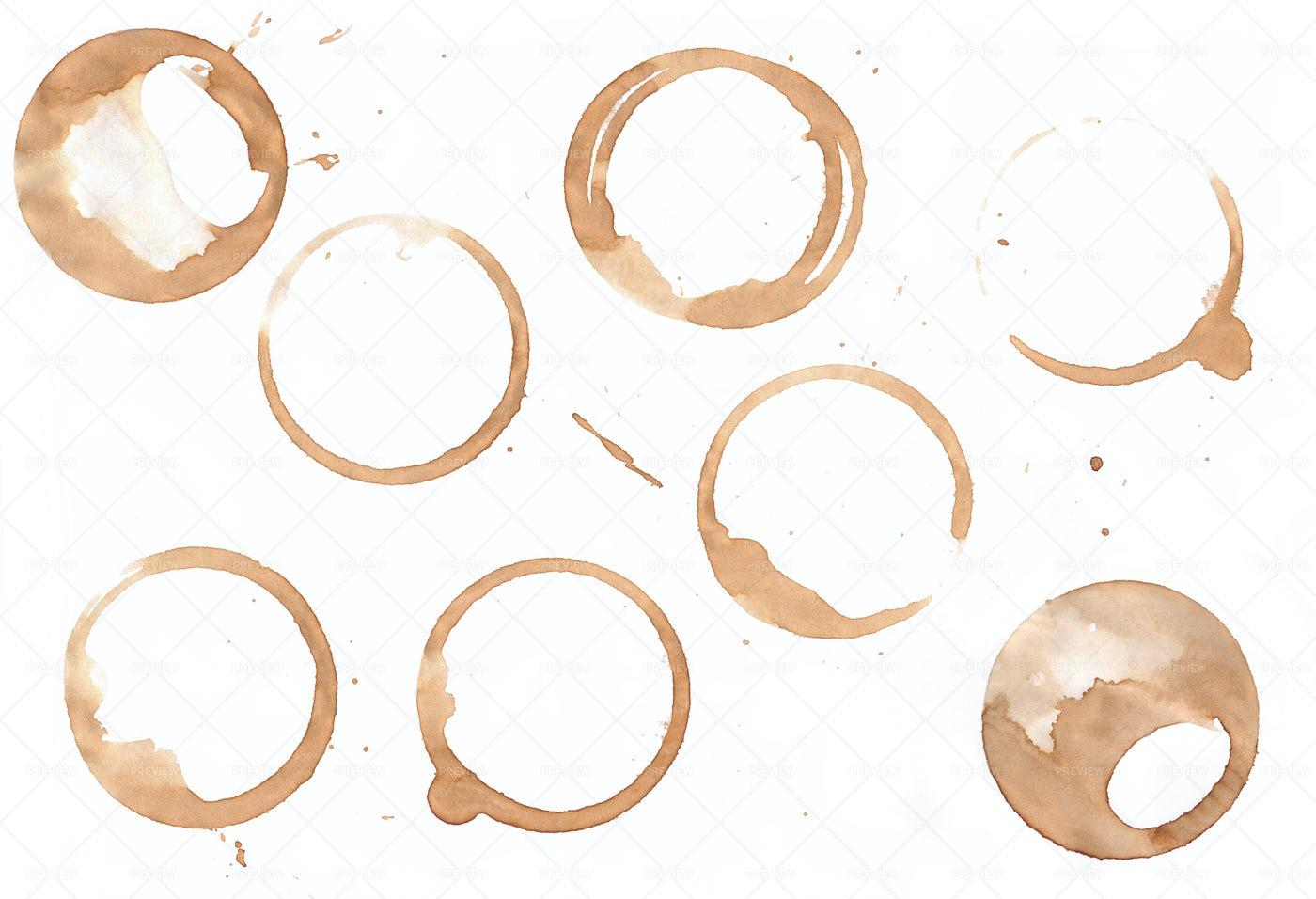 Coffee Stain Rings: Stock Photos