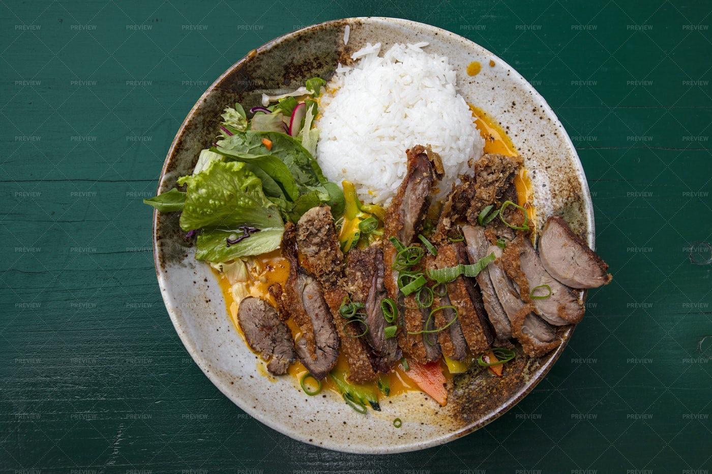 Peking Duck Curry: Stock Photos