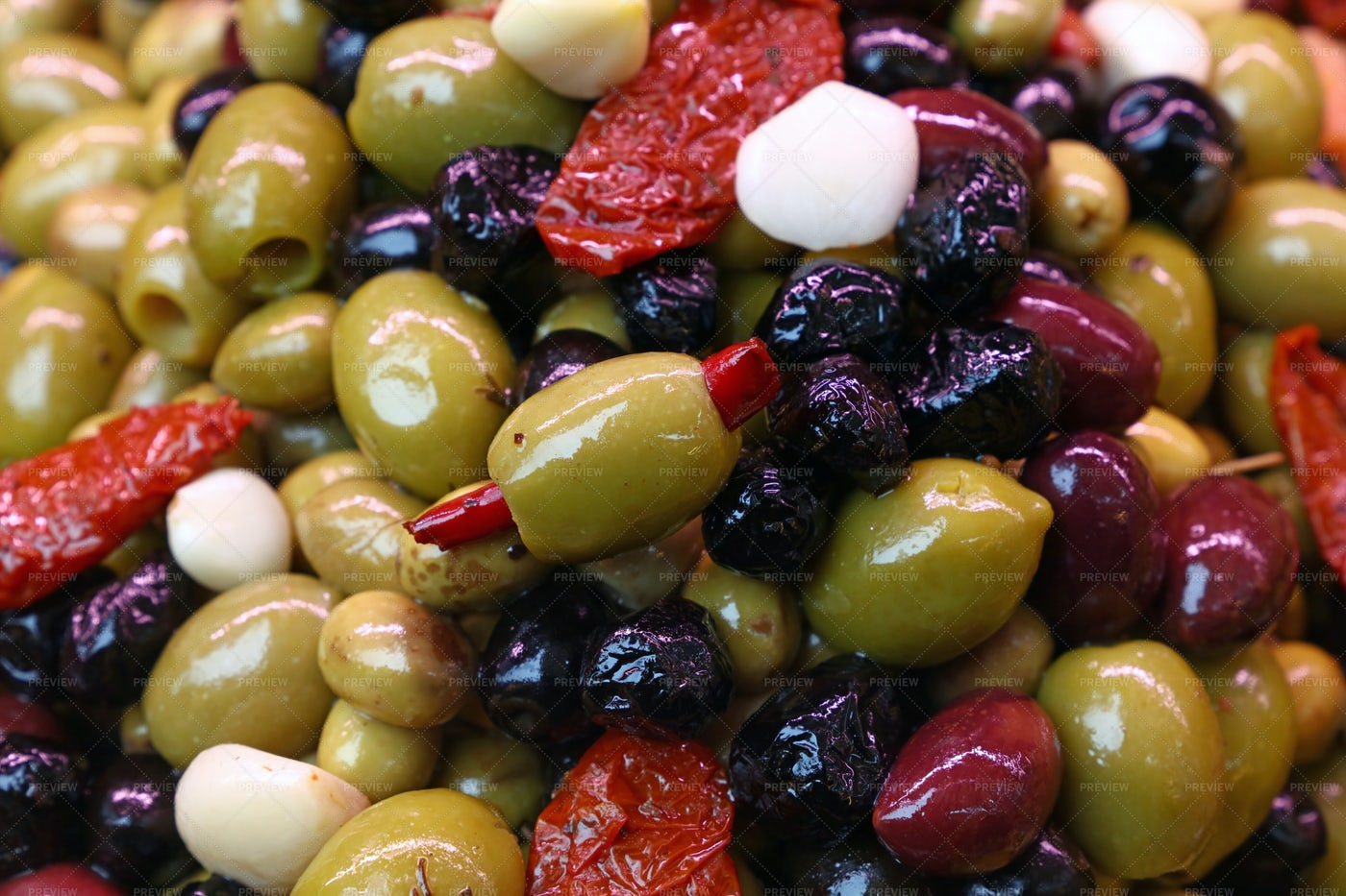 A Variety Of Olives: Stock Photos