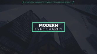 Modern Clean Titles: Motion Graphics Templates