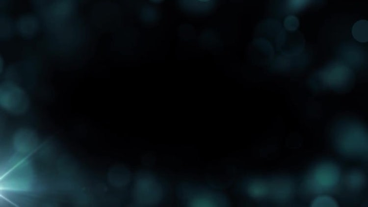 Blue Particle Border: Motion Graphics