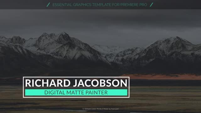 Simple Lower Thirds: Motion Graphics Templates
