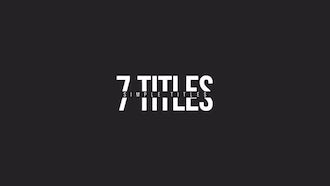 Minimal Motion Titles: Motion Graphics Templates