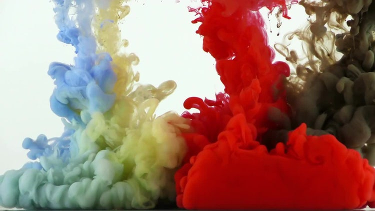 Colorful Ink Paint Splash: Stock Video