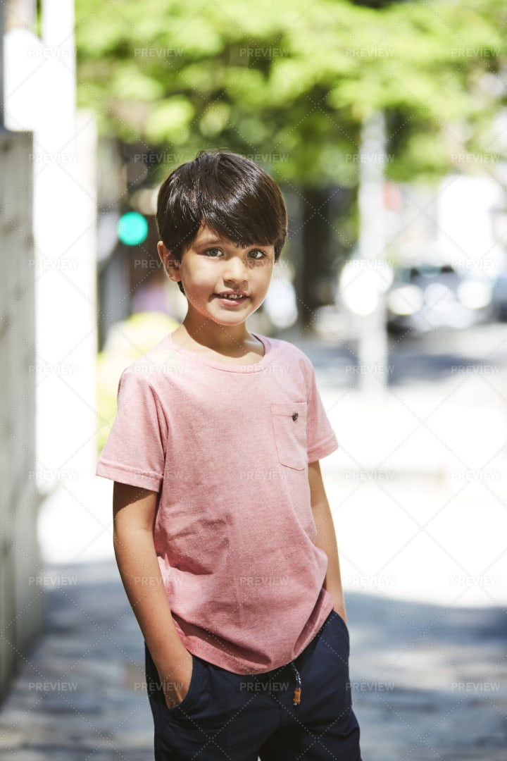 Kid In The City: Stock Photos