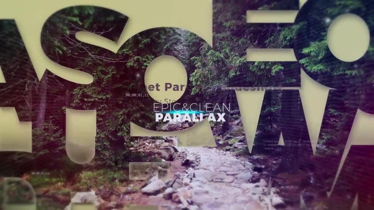 Alphabet Parallax Opener: After Effects Templates