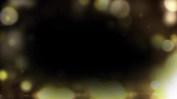 Golden Particle Border: Motion Graphics