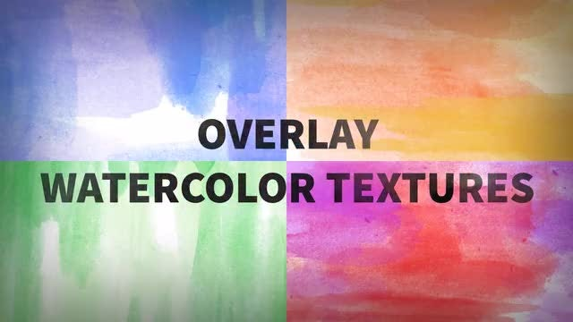 Overlay Watercolor Textures: Stock Motion Graphics