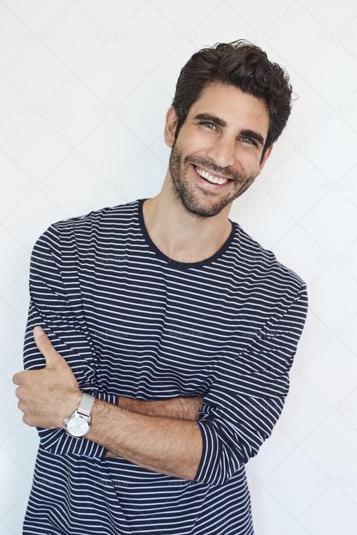 Portrait Of Smiling Man: Stock Photos