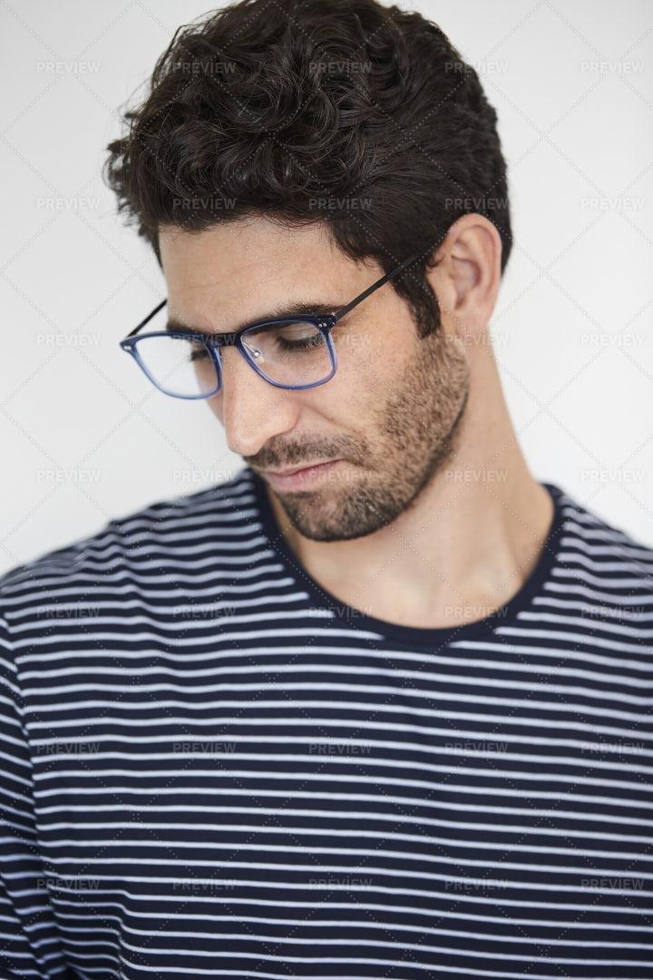 Man Wearing Eyeglasses: Stock Photos