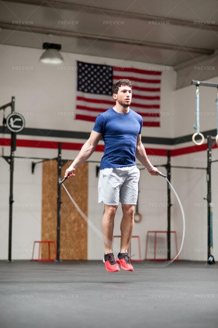 Man Jumping A Rope: Stock Photos