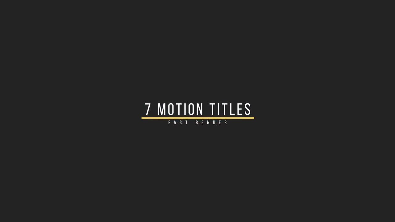 Smooth titles motion graphics templates motion array for Motion 5 title templates