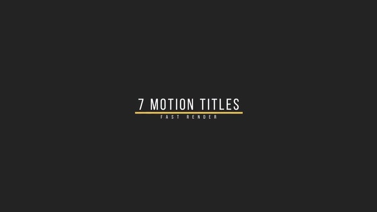 Smooth Titles: Motion Graphics Templates