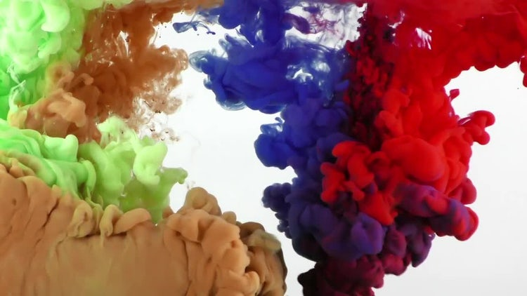 Abstract Colorful Paint Ink Spread: Stock Video