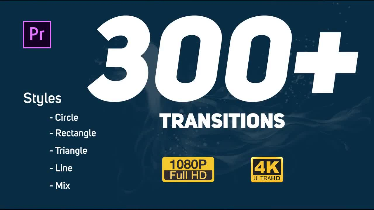 Transitions pack – premiere pro templates 48982