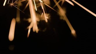 Burning Sparklers: Stock Video