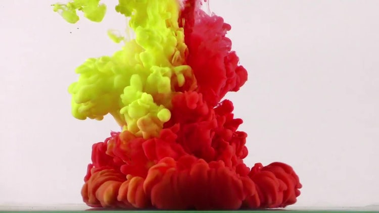 Abstract Colorful Ink Blast Spread: Stock Video