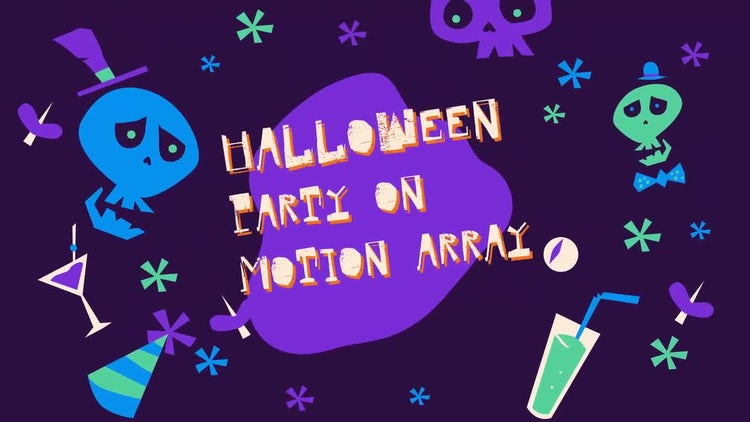 Funny Halloween Party Promo: After Effects Templates