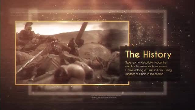 The History: After Effects Templates