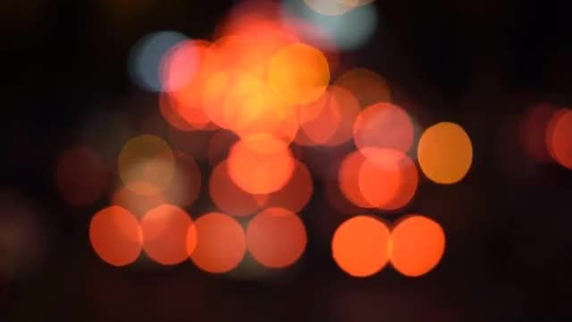 Colorful Bokeh Lights: Stock Video