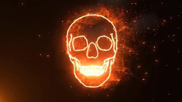 Halloween Burning Skull: Stock Motion Graphics