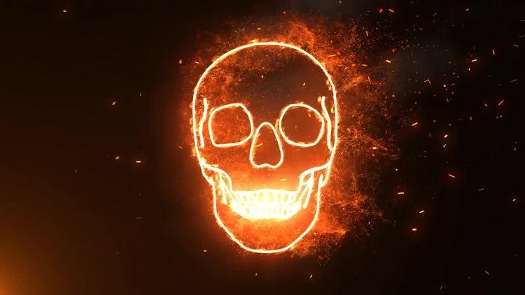 Halloween Burning Skull: Motion Graphics