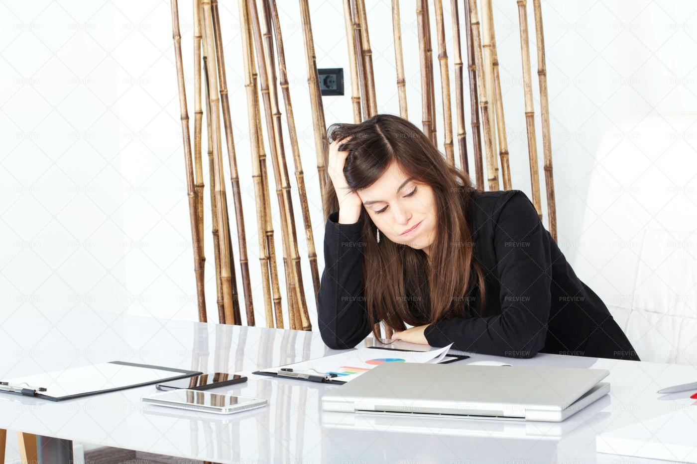 Businesswoman Under Stress: Stock Photos