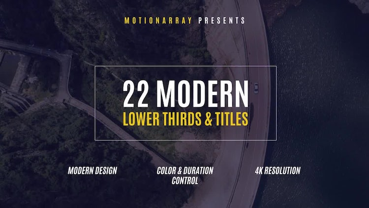 22 Modern Lower Thirds & Titles: After Effects Templates