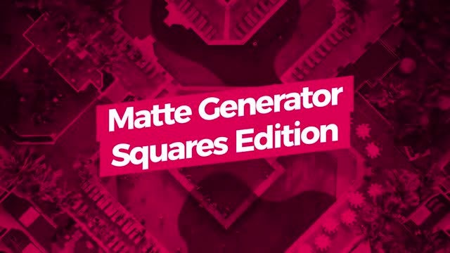 Matte Generator. Squares Edition: Motion Graphics Templates