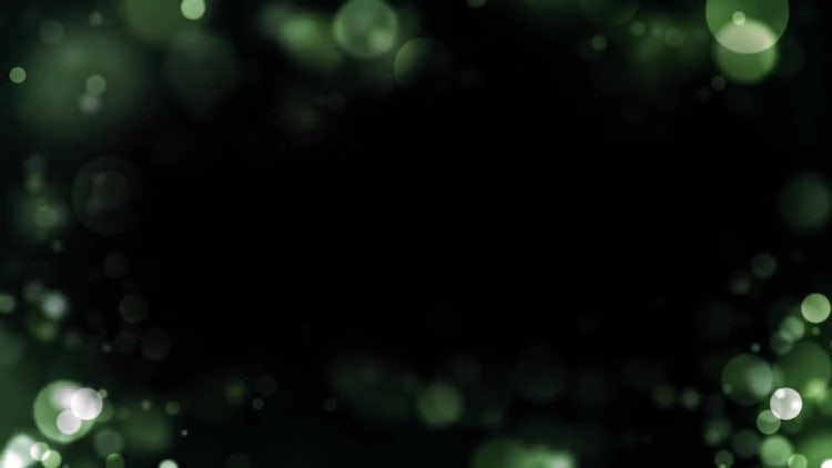 Green Particle Border: Motion Graphics