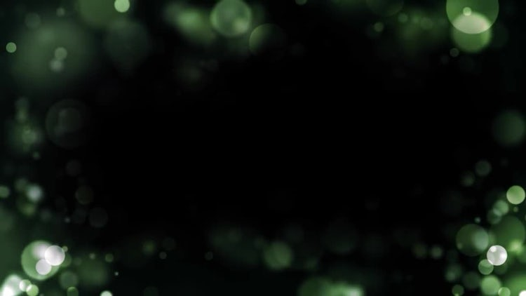 Green Particle Border: Stock Motion Graphics