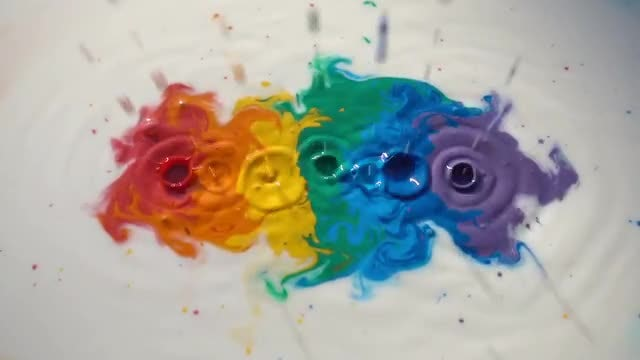 Colored Paint: Stock Video
